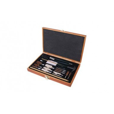 OUTERS 28PC .22+ CLNG KIT WOOD BOX