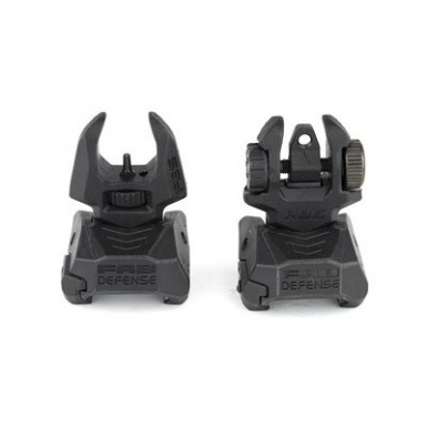 FAB DEF FRNT/RR FLP-UP SIGHT SET BLK